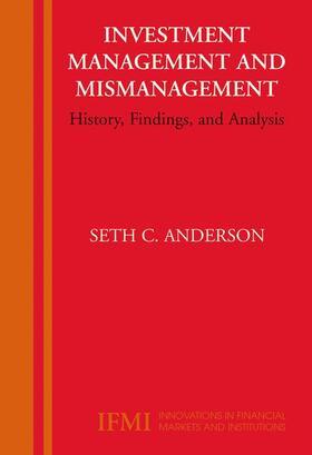 Anderson | Investment Management and Mismanagement | Buch | sack.de