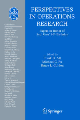Alt / Golden / Fu   Perspectives in Operations Research   Buch   sack.de