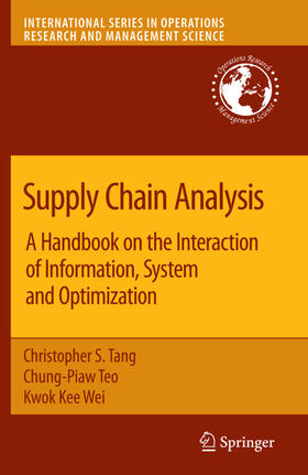 Tang / Teo / Wei | Supply Chain Analysis | Buch | sack.de