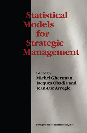 Ghertman / Obadia / Arregle | Statistical Models for Strategic Management | Buch | sack.de
