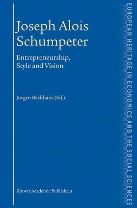 Backhaus   Joseph Alois Schumpeter   Buch   sack.de