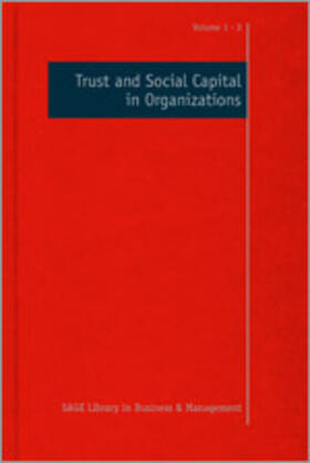 Costa / Anderson   Trust and Social Capital in Organizations   Buch   sack.de