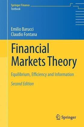 Fontana / Barucci | Financial Markets Theory | Buch | sack.de