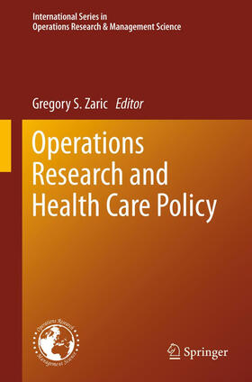 Zaric | Operations Research and Health Care Policy | Buch | sack.de