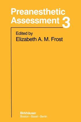 Frost   Preanesthetic Assessment 3   Buch   sack.de