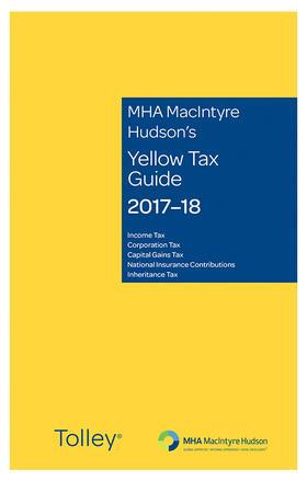 Eastaway   MHA MacIntyre Hudson's Yellow Tax Guide 2017-18   Buch   sack.de