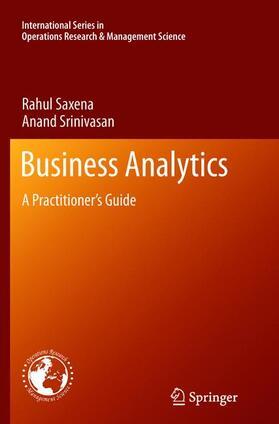 Saxena / Srinivasan | Saxena:Business Analytics | Buch | sack.de