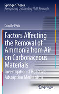 Petit |  Factors Affecting the Removal of Ammonia from Air on Carbonaceous Materials | Buch |  Sack Fachmedien