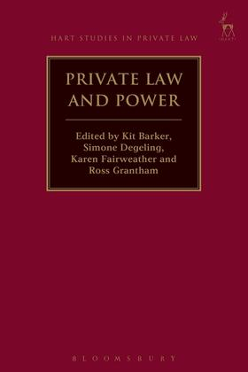 Barker / Degeling / Fairweather | Private Law and Power | Buch | Sack Fachmedien
