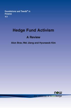 Brav / Jiang / Kim | Hedge Fund Activism | Buch | sack.de