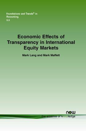 Lang / Maffett   Economic Effects of Transparency in International Equity Markets   Buch   sack.de