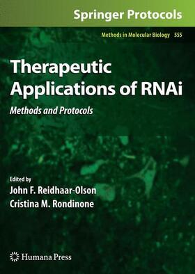 Reidhaar-Olson / Rondinone   Therapeutic Applications of RNAi   Buch   sack.de