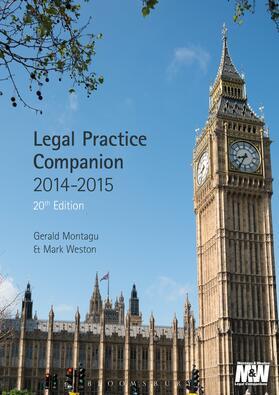 Montagu / Weston | Legal Practice Companion 2014/15 | Buch | sack.de