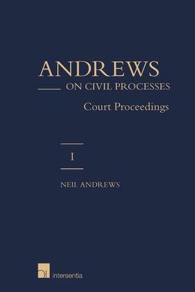 Andrews   Andrews on Civil Processes   Buch   sack.de