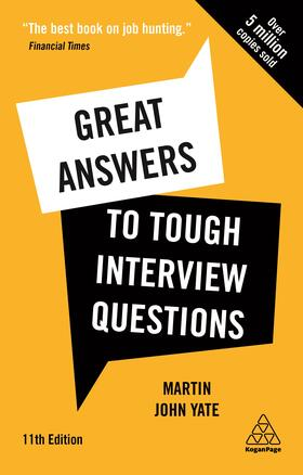 Yate | Great Answers to Tough Interview Questions | Buch | sack.de