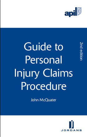 McQuater | APIL Guide to Personal Injury Claims Procedure | Buch | sack.de