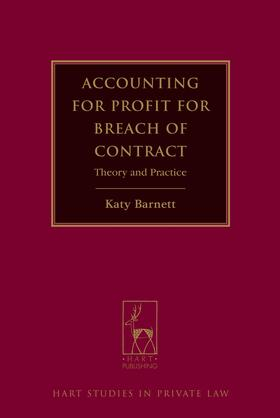 Barnett | Accounting for Profit for Breach of Contract | Buch | sack.de
