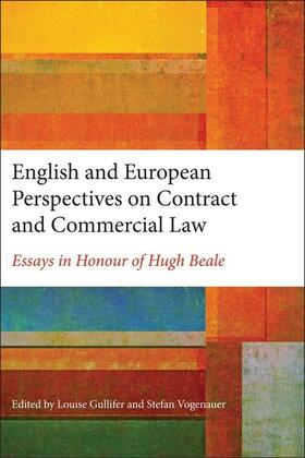 Gullifer / Vogenauer | English and European Perspectives on Contract and Commercial Law | Buch | sack.de
