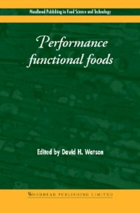 Watson   Performance Functional Foods   Buch   sack.de