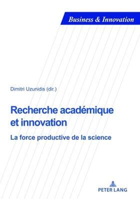 Uzunidis | Recherche académique et innovation | Buch | sack.de