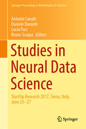 Canale / Durante / Paci   Studies in Neural Data Science   Buch   sack.de