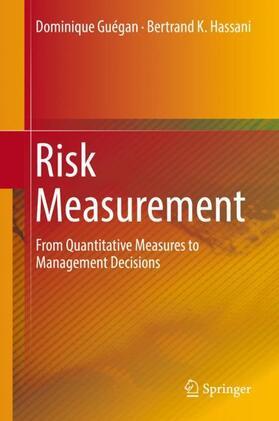 Guégan / Hassani | Risk Measurement | Buch | sack.de