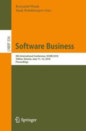 Wnuk / Brinkkemper | Software Business | Buch | sack.de