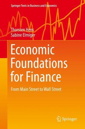 Elmiger / Hens | Economic Foundations for Finance | Buch | sack.de