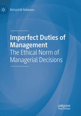 Robinson | Imperfect Duties of Management | Buch | sack.de