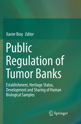 Bioy | Public Regulation of Tumor Banks | Buch | sack.de
