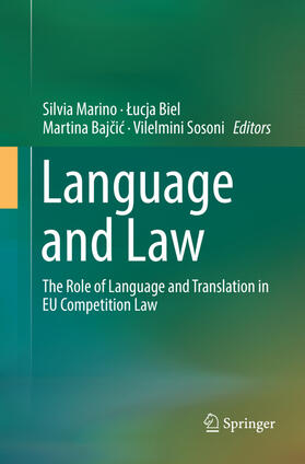 Marino / Biel / Bajcic | Language and Law | Buch | sack.de