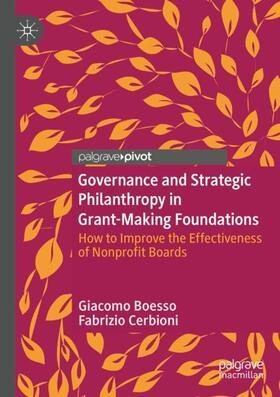 Boesso / Cerbioni   Governance and Strategic Philanthropy in Grant-Making Foundations   Buch   sack.de