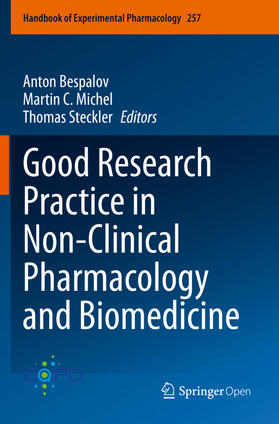 Bespalov / Michel / Steckler | Good Research Practice in Non-Clinical Pharmacology and Biomedicine | Buch | sack.de