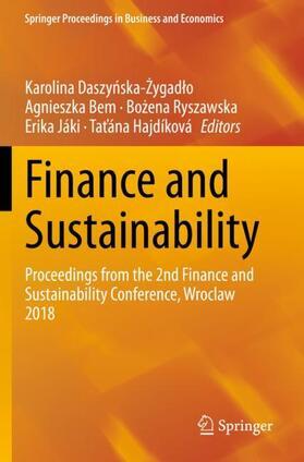Daszynska-Zygadlo / Bem / Hajdíková | Finance and Sustainability | Buch | sack.de
