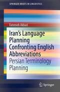 Akbari    Iran's Language Planning Confronting English Abbreviations   Buch    Sack Fachmedien