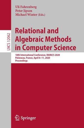 Fahrenberg / Jipsen / Winter | Relational and Algebraic Methods in Computer Science | Buch | sack.de