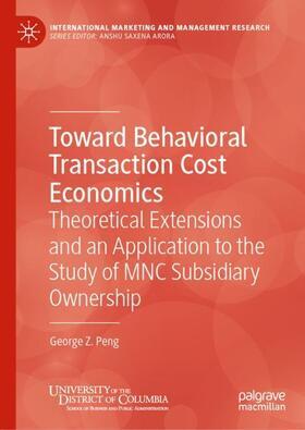 Peng | Toward Behavioral Transaction Cost Economics | Buch | sack.de