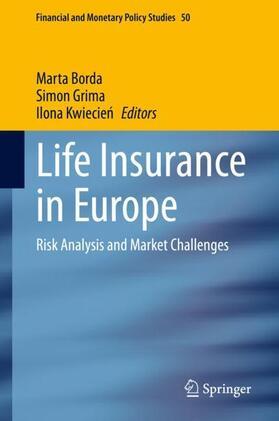 Borda / Kwiecien / Grima | Life Insurance in Europe | Buch | sack.de
