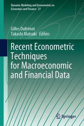 Matsuki / Dufrénot   Recent Econometric Techniques for Macroeconomic and Financial Data   Buch   sack.de