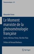 Feron |  Le Moment marxiste de la phénoménologie française | Buch |  Sack Fachmedien