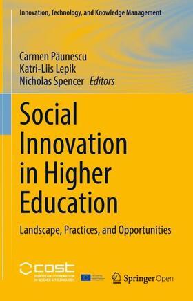 Paunescu / Lepik / Spencer | Social Innovation in Higher Education | Buch | sack.de