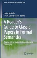 McNally / Szabó |  A Reader's Guide to Classic Papers in Formal Semantics | Buch |  Sack Fachmedien