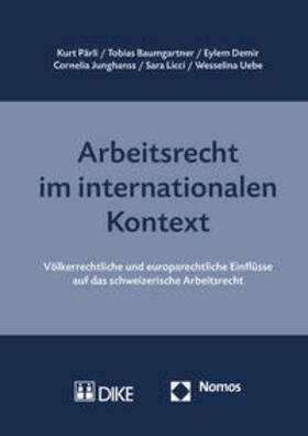 Pärli / Baumgartner / Demir | Arbeitsrecht im internationalen Kontext | Buch | sack.de