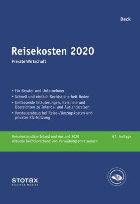 Deck | Reisekosten 2020 | Buch | sack.de