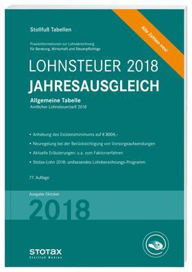 Tabelle, Lohnsteuer Jahresausgleich 2018   Buch   sack.de