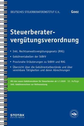 Goez   Steuerberatervergütungsverordnung, m.  Buch, m.  Online-Zugang; .   Buch   sack.de