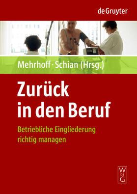 Mehrhoff / Schian | Zurück in den Beruf | Buch | sack.de