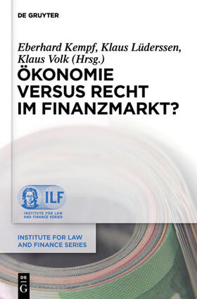 Kempf / Lüderssen / Volk | Ökonomie versus Recht im Finanzmarkt? | Buch | sack.de