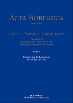 Zilch | Finanzierung des Kulturstaats in Preußen seit 1800 | Buch | sack.de
