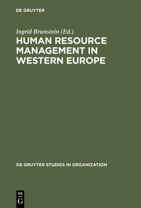 Brunstein | Human Resource Management in Western Europe | Buch | sack.de